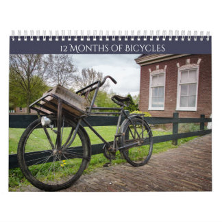 Vintage Bicycle Lover's Two Page Calendar