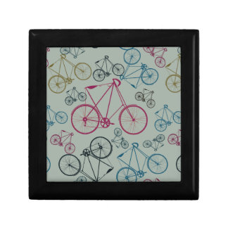 Vintage Bicycle Pattern Gifts for Cyclists Keepsake Box