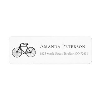 Vintage Bicycle Personalized Return Address Label