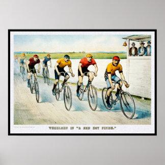 Vintage  Bicycle Poster Print