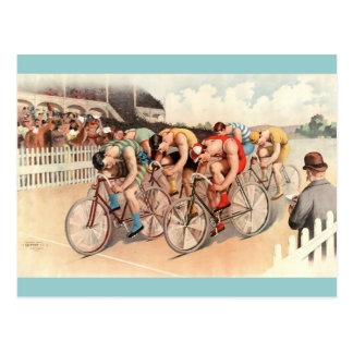 Vintage Bicycle Race Poster Art Postcard