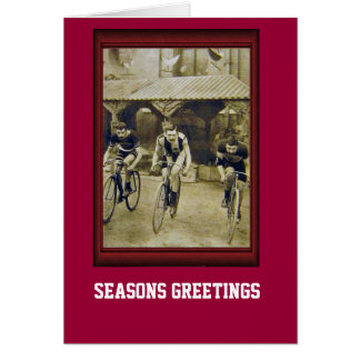 Vintage Bicycle Racing cyclists Greeting Card
