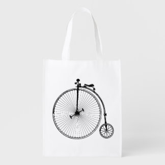 Vintage Bicycle Reusable Grocery Bag