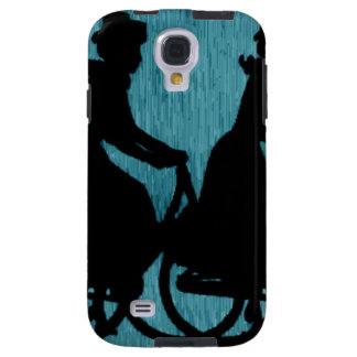 Vintage Bicycle Scarf Hat Woman Galaxy S4 Case