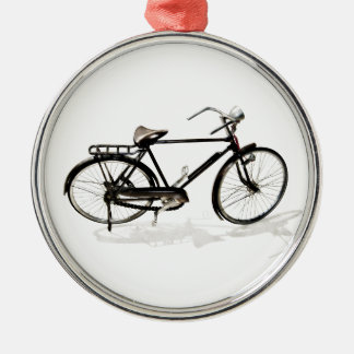 Vintage Bicycle Silver-Colored Round Decoration