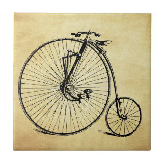 Vintage Bicycle Small Square Tile