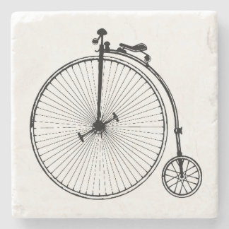 Vintage Bicycle Stone Beverage Coaster