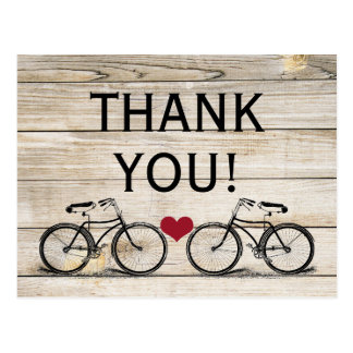 Vintage Bicycle Thank You Wedding Postcards