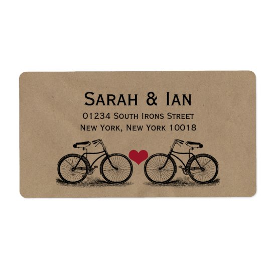 Vintage Bicycle Wedding Address Labels