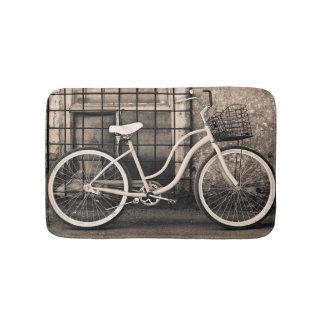 Vintage Bicycle With Basket Bath Mats