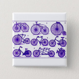 Vintage Bicycles 15 Cm Square Badge