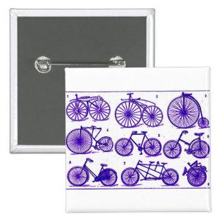 Vintage Bicycles 15 Cm Square Badge
