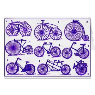 Vintage Bicycles Greeting Cards