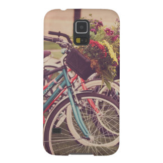 Vintage bicycles filled with flowers galaxy s5 cover