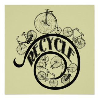 Vintage Bicycles Recycle Apparel and Gifts Announcements
