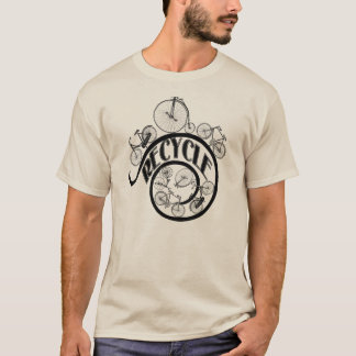 Vintage Bicycles Recycle Apparel and Gifts T-Shirt