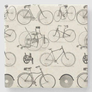 Vintage Bicycles Stone Coaster