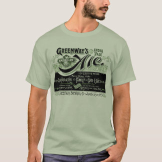 Vintage Bier Beer Ale Greenways India Pale Ale T-Shirt