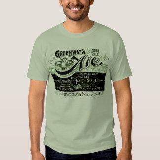 Vintage Bier Beer Ale Greenways India Pale Ale T Shirts