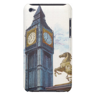 Vintage Big Ben Clock Tower Horse Statue, London Barely There iPod Case