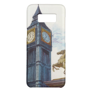 Vintage Big Ben Clock Tower Horse Statue, London Case-Mate Samsung Galaxy S8 Case