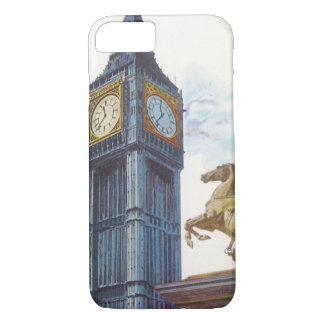 Vintage Big Ben Clock Tower Horse Statue, London iPhone 8/7 Case