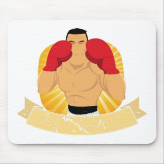 Vintage Big Boxing Man Mouse Pads