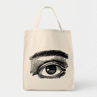 Vintage Big Eye Wood Engraving Bags