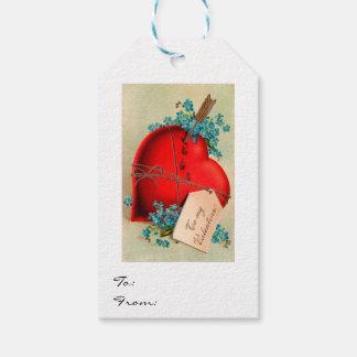 Vintage Big Red Bleeding Heart Valentine Postcard