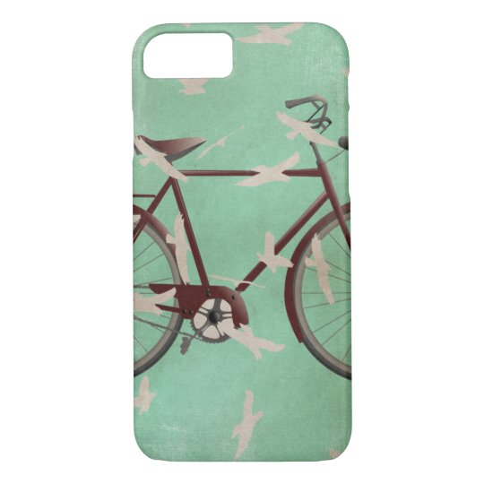 Vintage bike and birds iphone 7 case