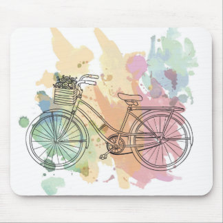 Vintage Bike Mouse Pad