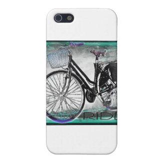 Vintage Bike Ride Teal iPhone 5 Covers