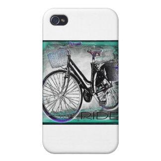 Vintage Bike Ride Teal iPhone 4 Cover