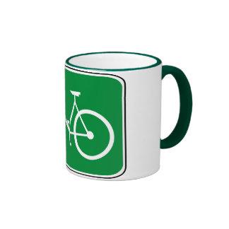 Vintage Bike Sign Ringer Mug