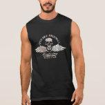 Vintage Biker Grinning Skull and Wings Motorcycle Sleeveless Shirt