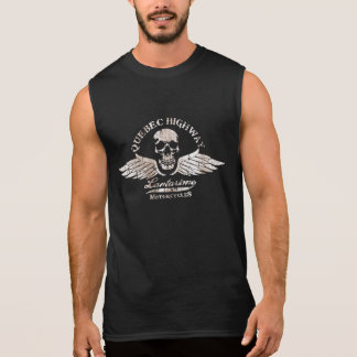 Vintage Biker Skull and Wings Motorcycle Sleeveless T-shirts
