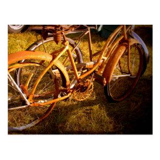 Vintage Bikes Postcard