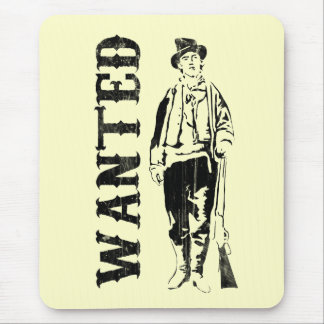 vintage billy the kid mouse pad