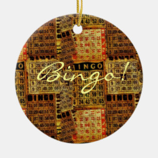 Vintage Bingo Card illustrations -Ornament Christmas Ornament