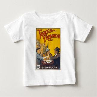 Vintage Biograph Studios Three Friends Movie Baby T-Shirt
