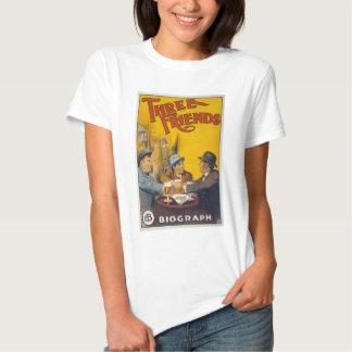 Vintage Biograph Studios Three Friends Movie T Shirt