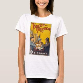 Vintage Biograph Studios Three Friends Movie T-Shirt