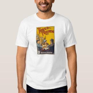 Vintage Biograph Studios Three Friends Movie Tee Shirt