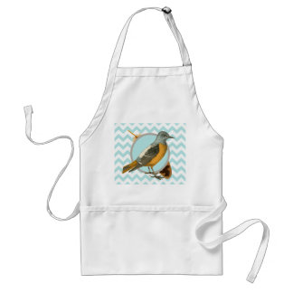 Vintage Bird and Feather Standard Apron