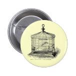 Vintage Bird Cage Pinback Button