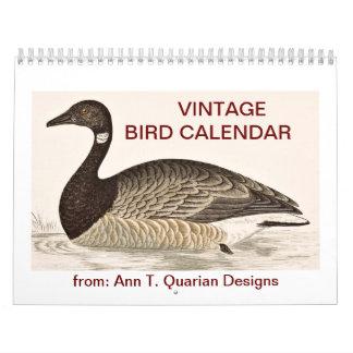 Vintage Bird Calendar - 2013