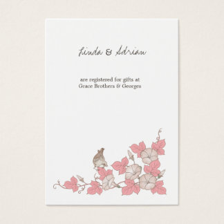 Vintage Bird Enclosure Cards Directions Reception