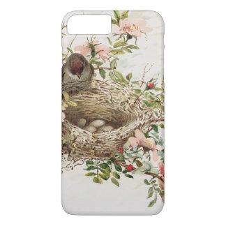 Vintage Bird in Nest Animal Print iPhone 8/7 Cases