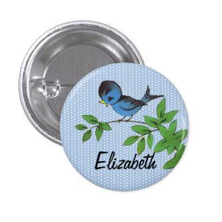 Vintage Bird in Tree Pin