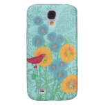 Vintage Bird Morning Glory iPhone Cover Samsung Galaxy S4 Cases